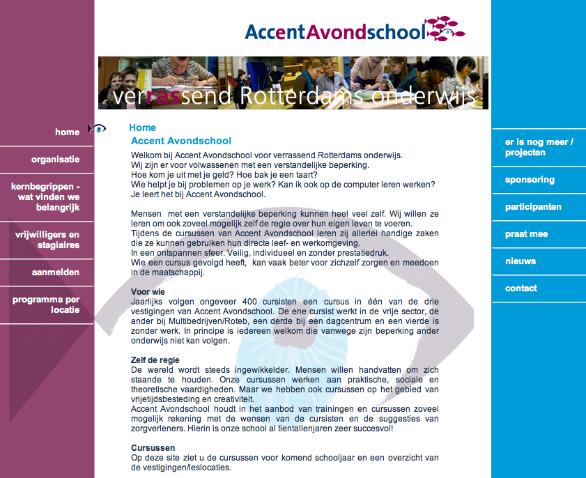 website Accent Avondschool